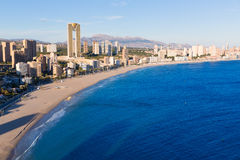 Benidorm Alicante playa de Poniente beach in Spain Stock Images