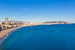 Benidorm Alicante playa de Poniente beach in Spain Stock Photos