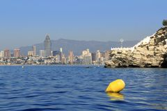 Benidorm Alicante Privince beach from sea Stock Photography