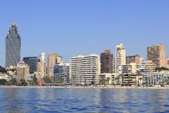 Benidorm Alicante Privince beach from sea Stock Photo