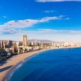 Benidorm alicante skyline of Poniente beach Royalty Free Stock Image