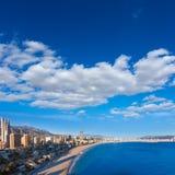 Benidorm alicante skyline of Poniente beach Royalty Free Stock Photos