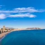 Benidorm alicante skyline of Poniente beach Stock Images