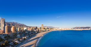 Benidorm alicante skyline  of Poniente beach Stock Photography