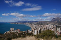 Benidorm, Alicante, Spain, playas Levante y Poniente, litoral Alicante Stock Photo
