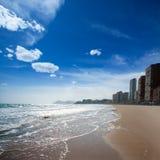 Benidorm Alicante strandbyggnader och medelhavs- Royaltyfri Fotografi