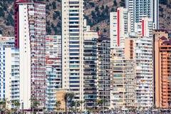 Benidorm apartments hotels Stock Image