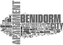 Benidorm Apartments Your Home Away From Home Word Cloud Royalty Free Stock Photos