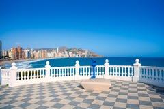 Free Benidorm Balcon Del Mediterraneo Sea From White Balustrade Stock Images - 37204704