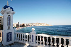 Benidorm from the balcony Royalty Free Stock Photography