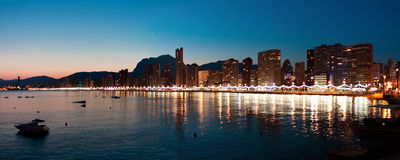 Benidorm. Bay at Costa Blanca. Spain Stock Image