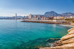 Benidorm Bay Stock Images