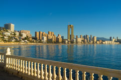 Benidorm bay Stock Photo