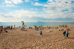 Benidorm beach and island Stock Photo