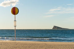 Benidorm beach and island Royalty Free Stock Image