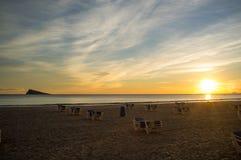 Benidorm beach and island Stock Photography