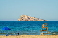 Benidorm beach and island Stock Photos