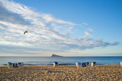 Benidorm beach landscape Royalty Free Stock Photos