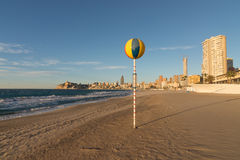 Benidorm beach in the morning Royalty Free Stock Photography