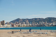 Benidorm beach resort Stock Images