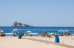 Benidorm beach Royalty Free Stock Photography