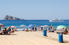 Benidorm beach Stock Images