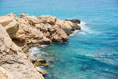 Benidorm beach in summer day Stock Images