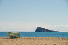 Benidorm beach in a sunny day Royalty Free Stock Photos