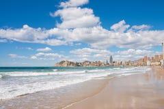 Benidorm beach and town Stock Image