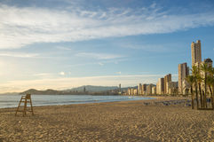 Benidorm beach Royalty Free Stock Photos