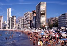 Benidorm beach. Stock Photography