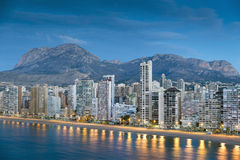 Benidorm. Benidor sunset in the province of Alicante, Spain Stock Images