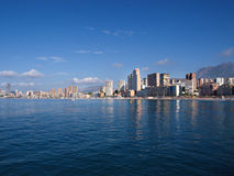 Benidorm City. View of the Benidorm City from the Mediterranean sea Stock Photo