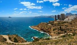 Benidorm city coast view Spain. Stock Photography
