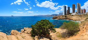Benidorm city coast view Spain. Stock Image