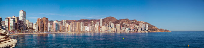 Benidorm City Panorama Stock Photography