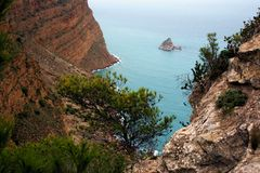Benidorm cliff Stock Image