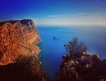 Benidorm Cliffs Royalty Free Stock Images