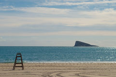 Benidorm coast and island Stock Photo