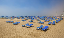 Benidorm, Costa Blanca, Spain - APRIL 2014: Playa de Levante. Royalty Free Stock Image