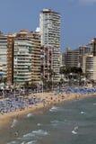 Benidorm - Costa Blanca - Spanien Stockbild