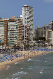 Benidorm - Costa Blanca - Spanje Stock Afbeelding