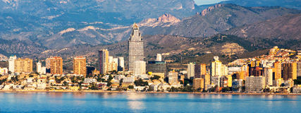 Benidorm, Costa Blanca - una città costiera e una località di soggiorno turistica popolare in Spagna Fotografia Stock Libera da Diritti