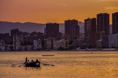 Benidorm at Dusk Stock Images