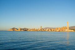 Benidorm on early morning Royalty Free Stock Images