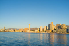 Benidorm on early morning Royalty Free Stock Photography