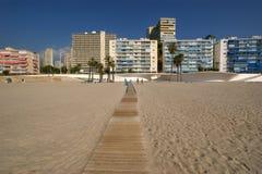 Benidorm. Empty beach in Benidorm, Spain (Costa Blanca Royalty Free Stock Image