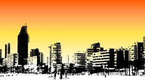 Benidorm-Frontseite Stockbild