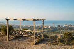 Benidorm from a hilltop viewpoint Royalty Free Stock Photos