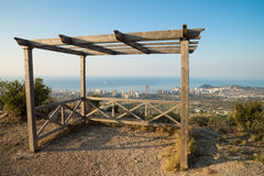 Benidorm from a hilltop viewpoint Royalty Free Stock Photography